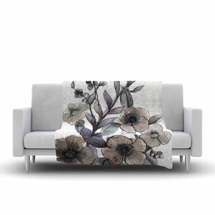 Best Reviews Sonal Nathwani Bouquet Illustration Fleece Blanket By East Urban Home