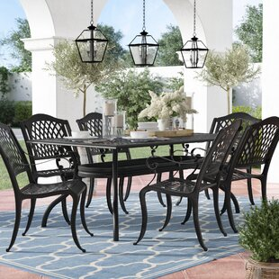 Castle Heights 7 Piece Dining Set By Alcott Hill