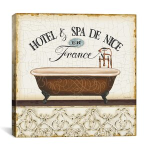 'Hotel and Spa De Nice France (Spa and Resort II)' by Lisa Audit Vintage advertisement on Canvas by iCanvas