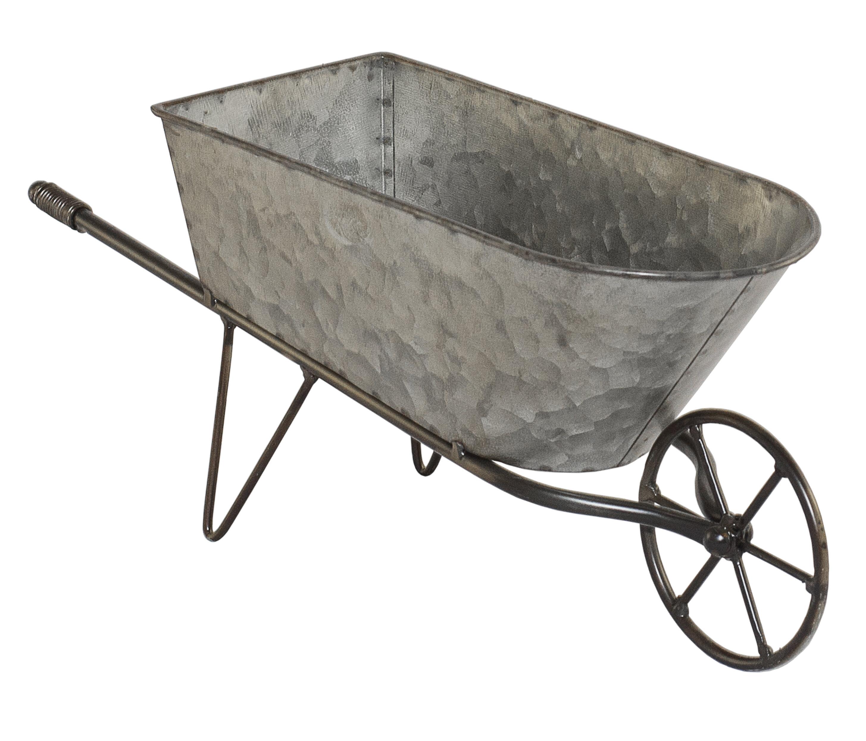 Humboldt Galvanized Metal Wheelbarrow Planter
