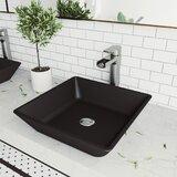 Handmade Roma Glass Rectangular Vessel Bathroom Sink with Faucet (Set of 3) by VIGO