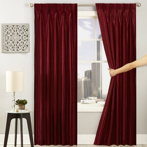 Glide Solid Semi-Sheer Grommet Single Curtain Panel