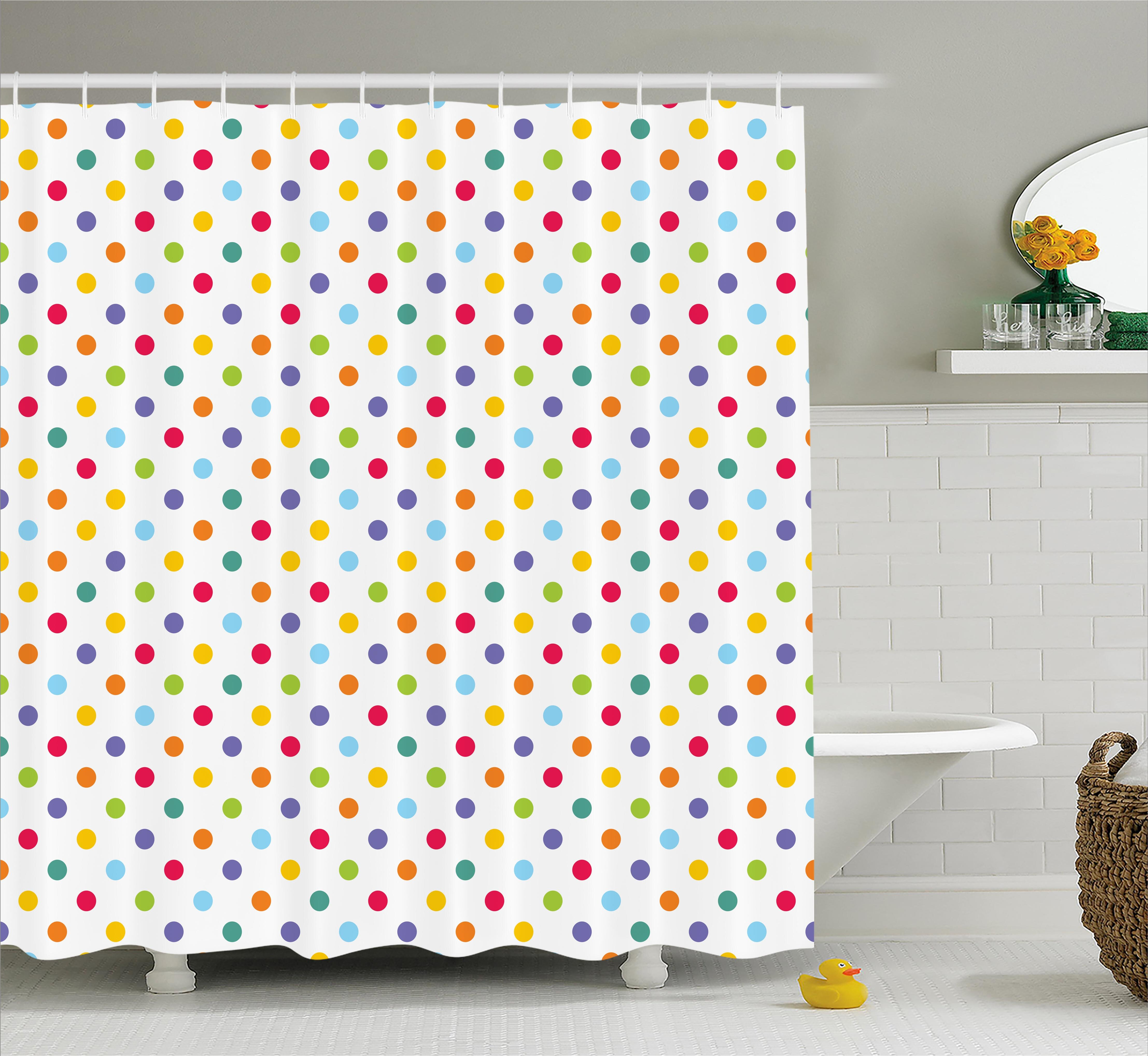 Viv Rae Bradford Colorful Polka Dots Shower Curtain