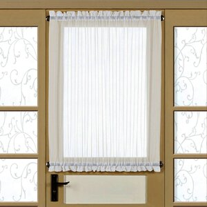 Solid Semi-Sheer Rod Pocket Single Curtain Panel