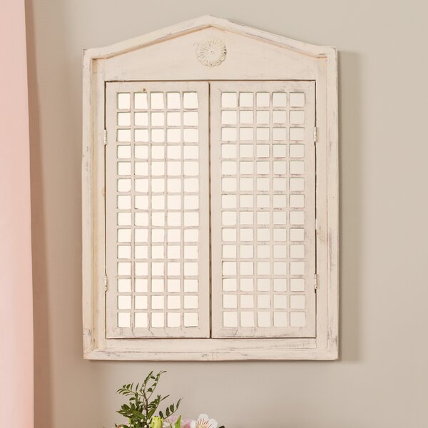 Lily Manor Polemoine Lattice Wall Mirror Amp Reviews