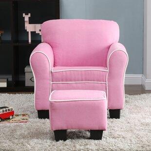 Merveilleux Pink Chair And Ottoman | Wayfair