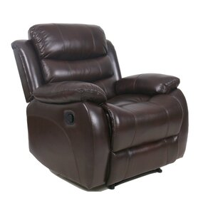 Lindsay Leather Recliner by Andover Mills