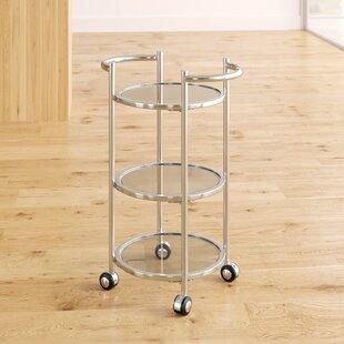 Order Dudek Modern Iron/Glass Bar Cart Compare prices