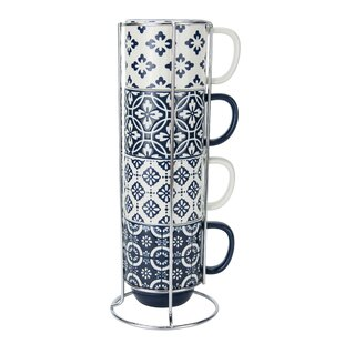 Fantastic Stacking Mugs With Stand | Wayfair OV72
