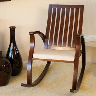 Post Rocking Chair with Cushion Winston Porter