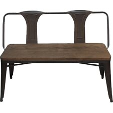 Metal and Wood Entryway Bench by Adeco Trading