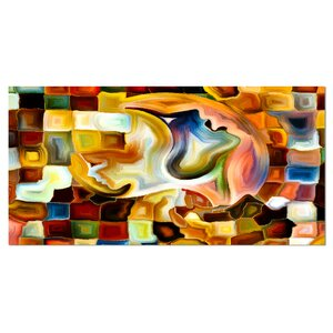 Way of Inner Paint Abstract Graphic Art on Wrapped Canvas by Design Art