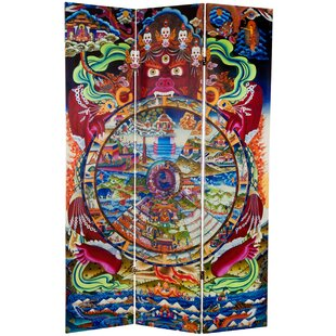 Sakai The Wheel of Life 3 Panel Room Divider by Bloomsbury Market