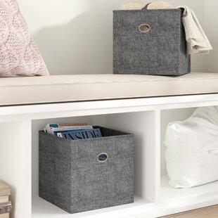 Price comparison Folding Storage Fabric Bin (Set of 2) By Rebrilliant