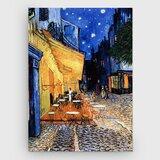 The Café Terrace by Vincent Van Gogh - Wrapped Canvas Print