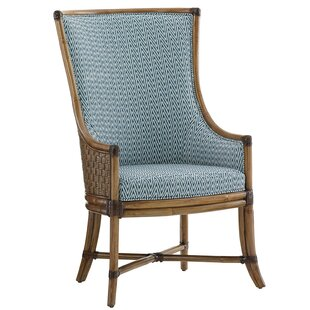 Twin Palms Genuine Leather Upholstered Dining Chair by Tommy Bahama Home