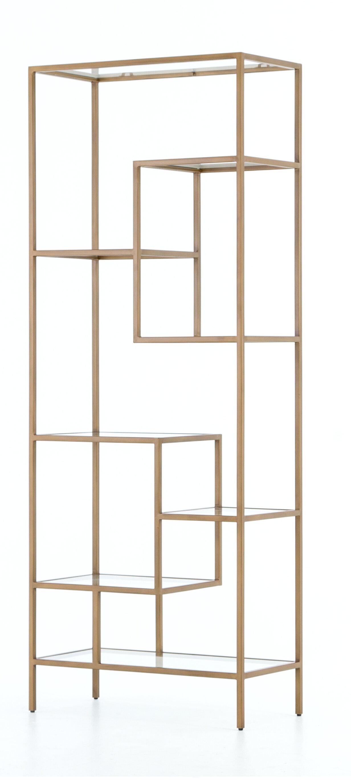 Mercer41 Bremen Geometric Bookcase Wayfair