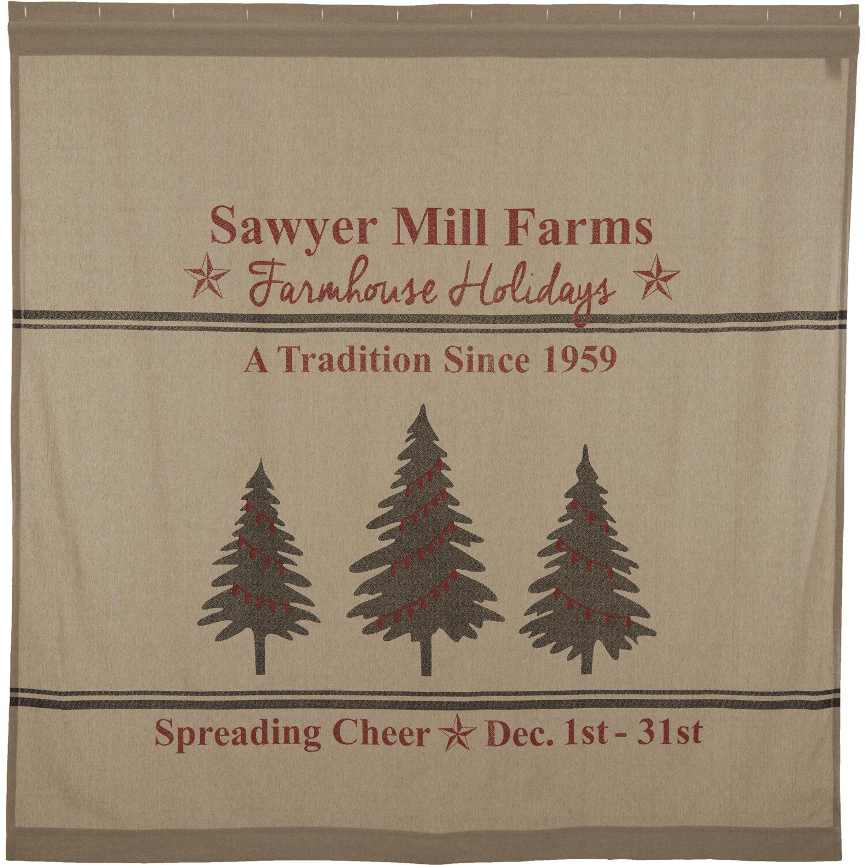 Reuben Holiday Tree Cotton Single Shower Curtain