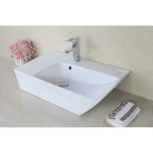 Online Reviews Ceramic Rectangular Vessel Bathroom Sink with Faucet and Overflow By Royal Purple Bath Kitchen