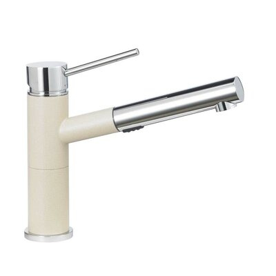 Blanco Alta Standard Pull Out Single Handle Kitchen Faucet Color: Biscotti