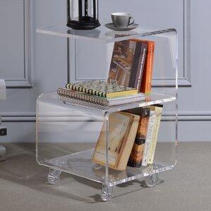 Caylee Acrylic G Shape End Table