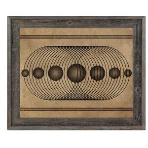 'Rhythm in Symmetry' Framed Graphic Art by Click Wall Art
