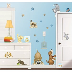 At the Pet Shop Super Jumbo Appliqué Wall Decal by Borders Unlimited