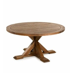 claremont eucalyptus round wooden dining table
