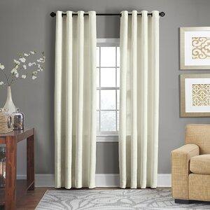 Baremeadow Solid Sheer Grommet Single Curtain Panel