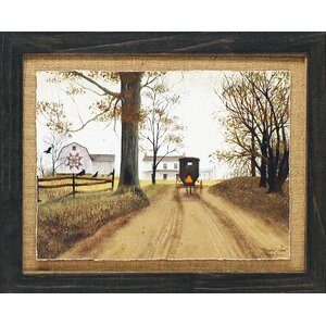 'Headin' Home Primitive Country Farm Landscape' by Billy Jacobs Framed Graphic Art by Artistic Reflections