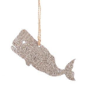 Glittered Whale Hanging Figurine