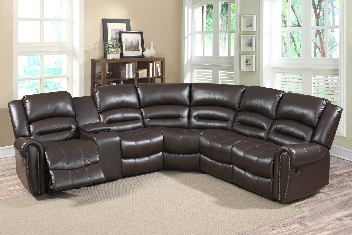 Living In Style Bingham Reversible Reclining Sectional