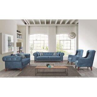 Living Room Set Grey by Rosdorf Park