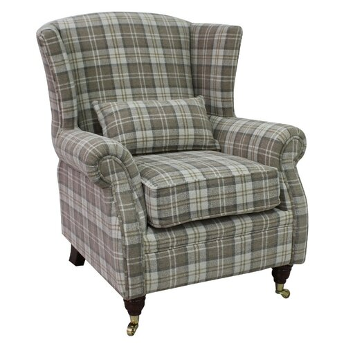 Barbara Wingback Chair Union Rustic Upholstery: Beige