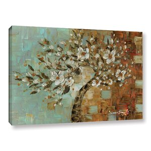 White Tree 01 Painting Print on Wrapped Canvas by Latitude Run