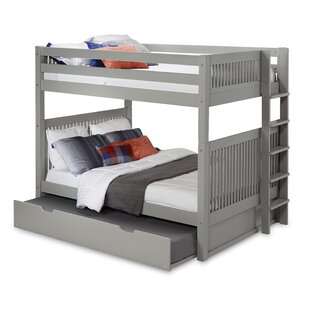 Oakwood Full Over Full Bunk Bed with Trundle by Harriet Bee