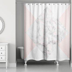 Presler Marble Shower Curtain ByLatitude Run