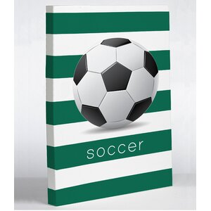 Soccer Painting Print Wrapped on Canvas by One Bella Casa