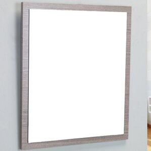 reflection framed bathroom wall mirror