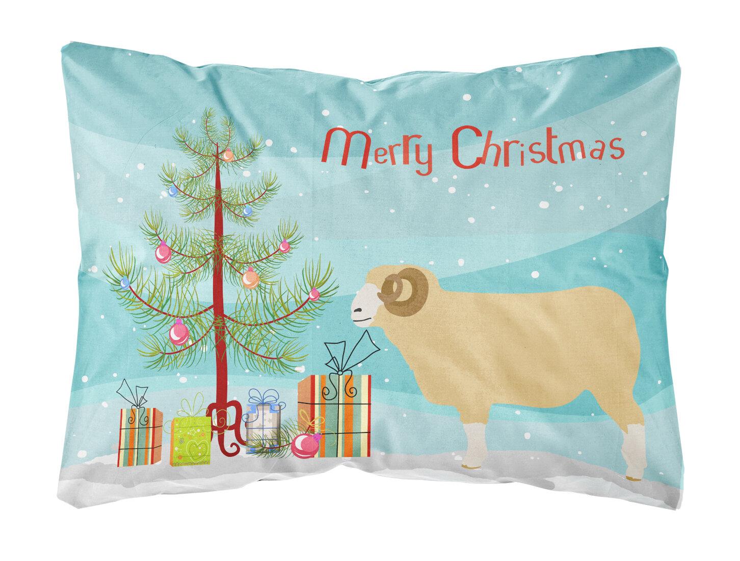 The Holiday Aisle Harlan Horned Dorset Sheep Christmas Indoor Outdoor Throw Pillow Wayfair