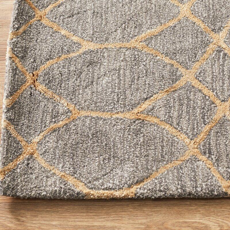 Kerala Handmade Wool Gray Area Rug