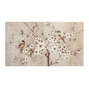'Elegant Plums' Painting Print on Canvas Set by Lark Manor
