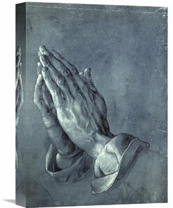 'Praying Hands' by Albrecht Durer Painting Print on Wrapped Canvas
