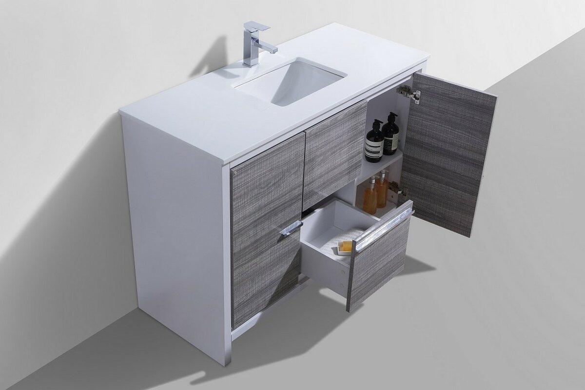 Mercury row bosley 48 single sink modern bathroom vanity for Levi 29 5 single modern bathroom vanity set