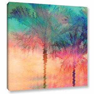 Palmae Square Painting Print on Wrapped Canvas by Bay Isle Home