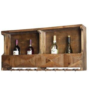 Dhaval Reclaimed Wood 10 Bottle Wall Mounted Wine Bottle Rack by Gracie Oaks