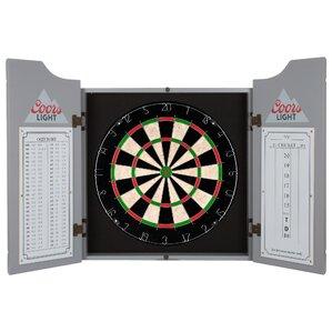 Coors Light Dartboard Cabinet Set