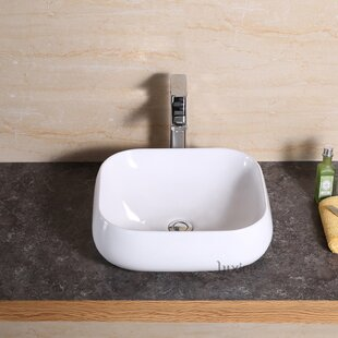 Compare & Buy Vanity Art Basin Ceramic Rectangular Vessel Bathroom Sink By Luxier