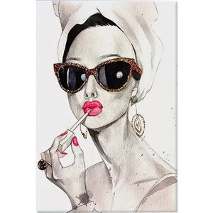 'Audrey Hepburn' Painting Print on Canvas by Willa Arlo Interiors