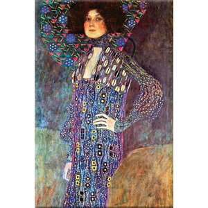 Portrait of Emily Fidge by Gustav Klimt Painting Print on Wrapped Canvas by Buyenlarge